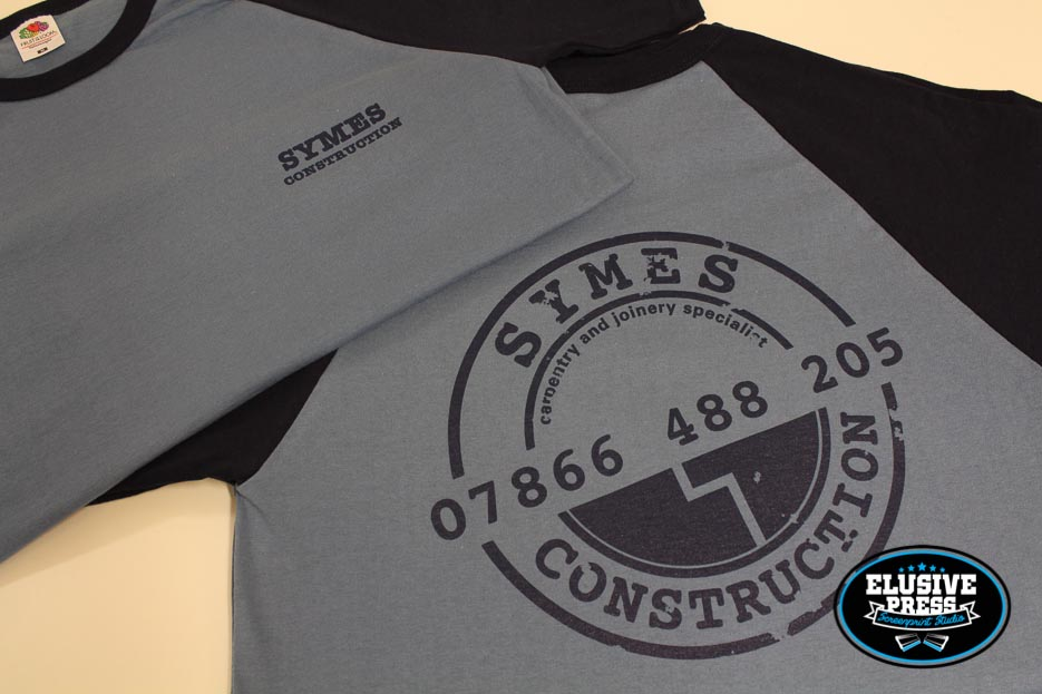 Workwear for symes construction for Work t shirt printing