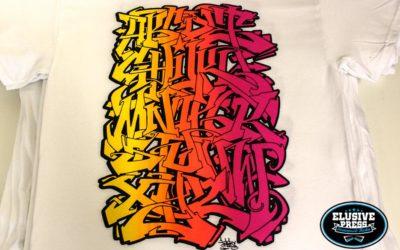 'Inkie' 4 colour Alphabet t-shirt prints
