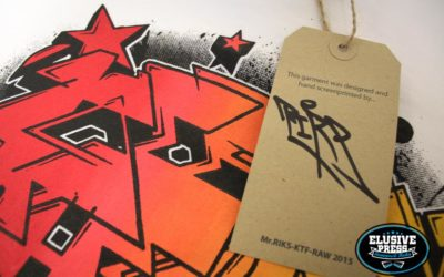 T-shirt Printing For Graffiti Artist 'Mr.Riks'