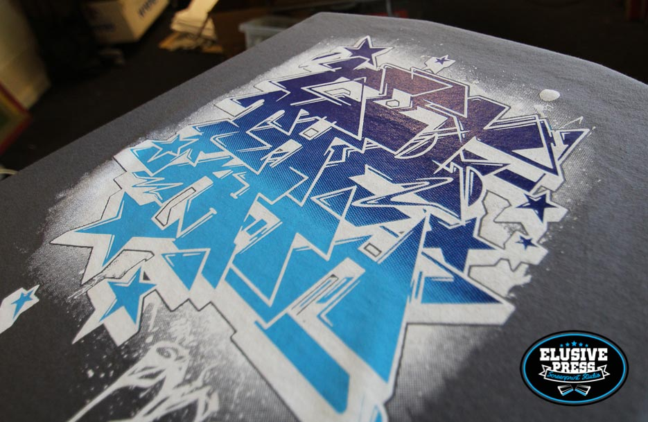 KTF Crew 3 colour screen printed Tshirt.