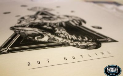 T-shirt Printing for Creative Duo 'Dot Outline'