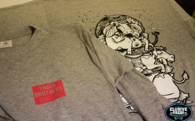 Screen Printing Long Sleeve T-shirts For 'Three Brothers Burgers'