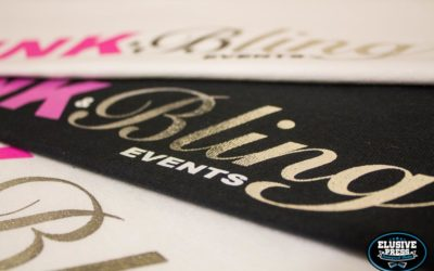 Silver Foil Screen Prints For 'Pink & Bling Events'