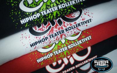 2 colour chest prints on Gildan Premier t-shirts for HTC Hip Hop Theatre