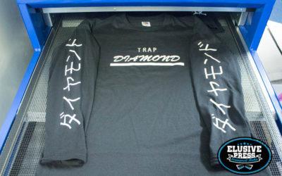 sleeve printing on long sleeve t-shirts for Trap Diamond