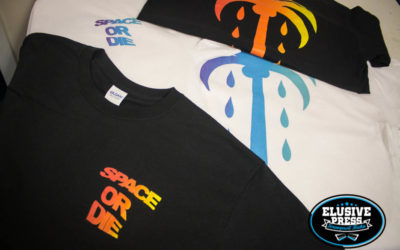 3 Colour Split Fountain T Shirt Printing for 'Space Or Die' Bristol