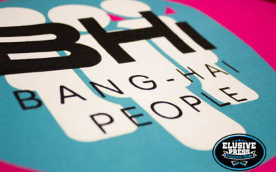 3 Colour T shirt Printing for Boom Town Festival