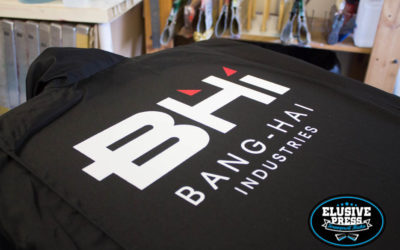 2 Colour Boiler Suit Screen Printing for Bang Hai Corporation @ Boom Town Festival