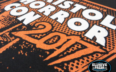 Screen Printed T-Shirts for Bristol Horror Con 2017