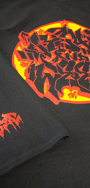 graffiti t-shirt printing for raw crew