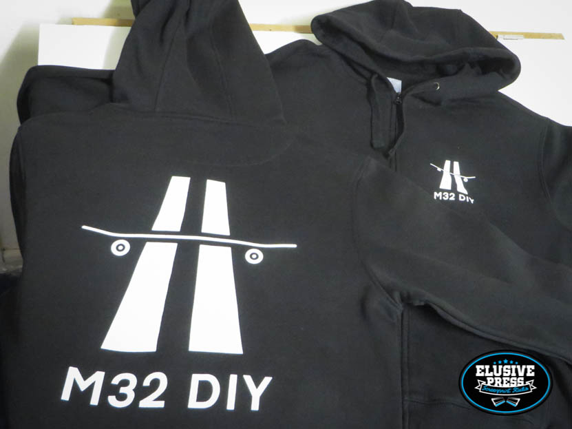 T Shirt And Hoody Screen Printing For M32 DIY Skate Spot