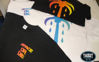 2 Colour Split Fountain T-Shirt Printing For Bristol's 'Space Or Die'