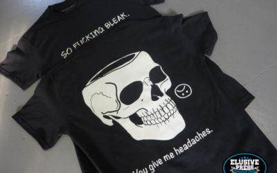 Bright White Discharge T Shirt Printing