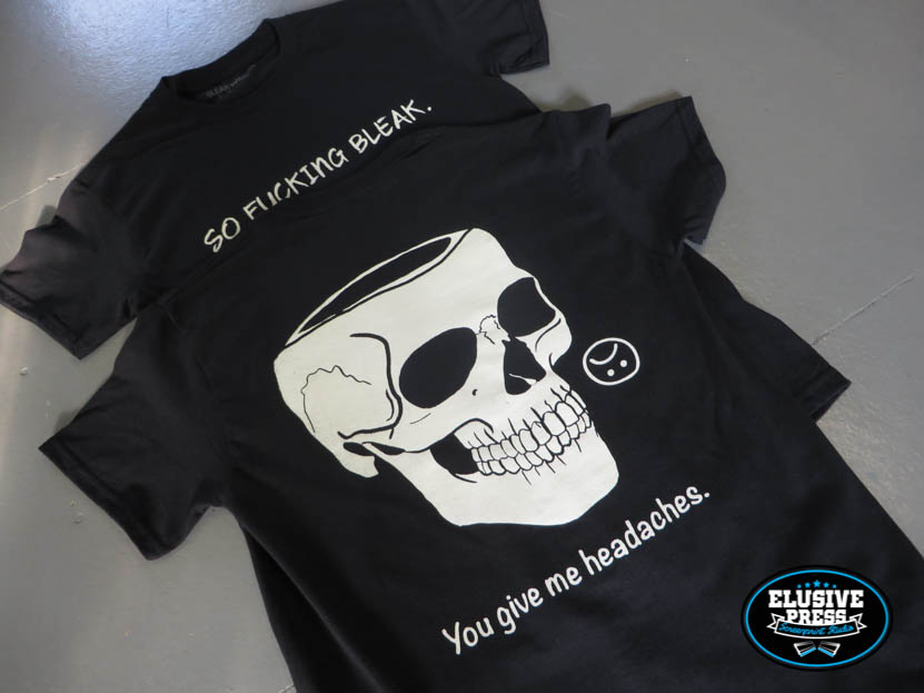 Bright White Discharge T Shirt Printing