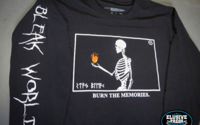 Custom t shirt and hoody printing for 'Bleak World Clothing'